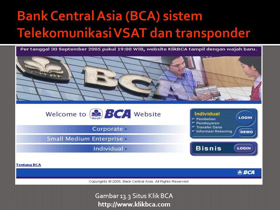 Bank Central Asia (BCA) sistem Telekomunikasi VSAT dan transponder