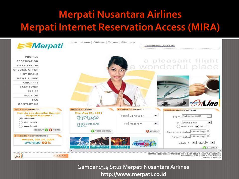 Merpati Nusantara Airlines Merpati Internet Reservation Access (MIRA)