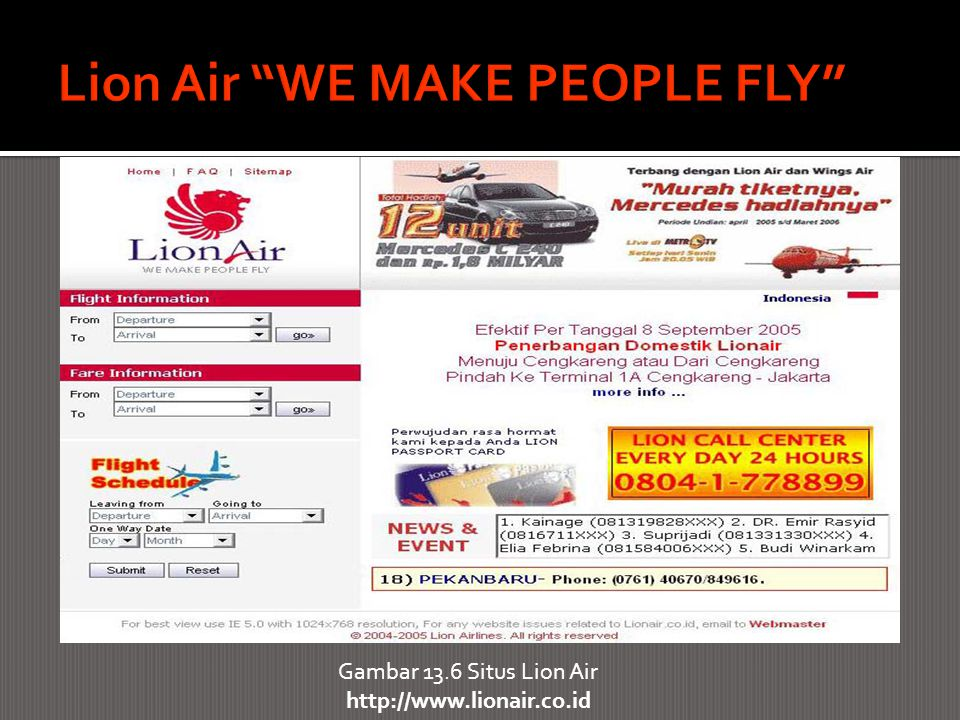 Lion Air WE MAKE PEOPLE FLY