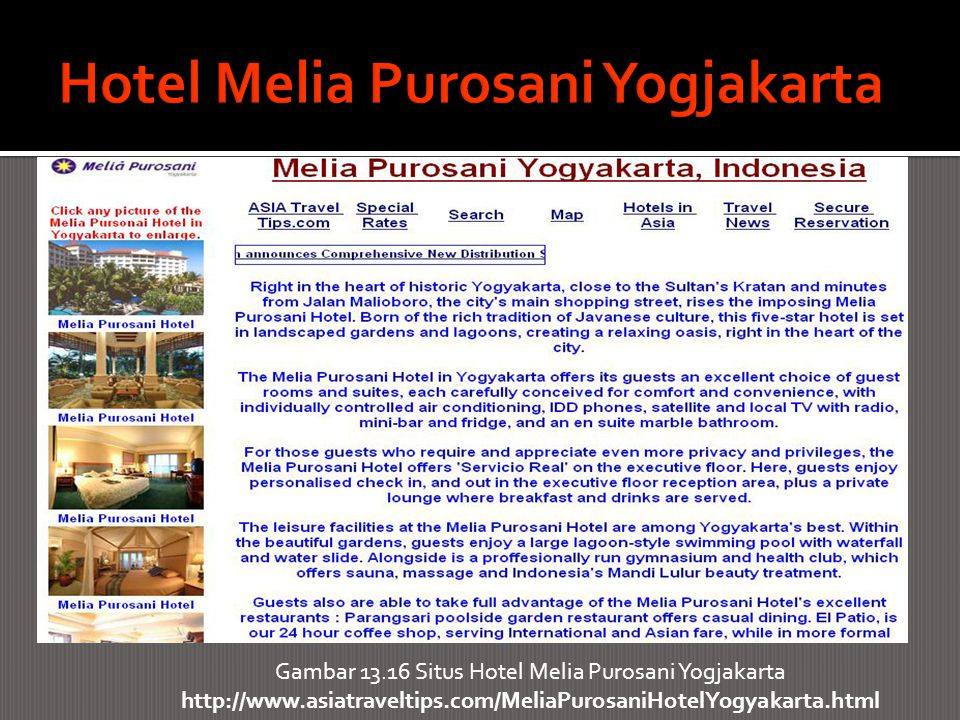Hotel Melia Purosani Yogjakarta