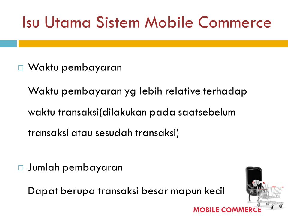 Isu Utama Sistem Mobile Commerce
