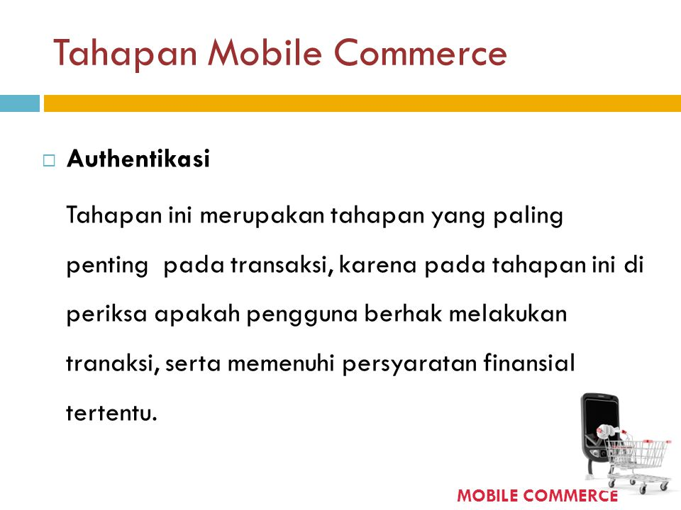 Tahapan Mobile Commerce