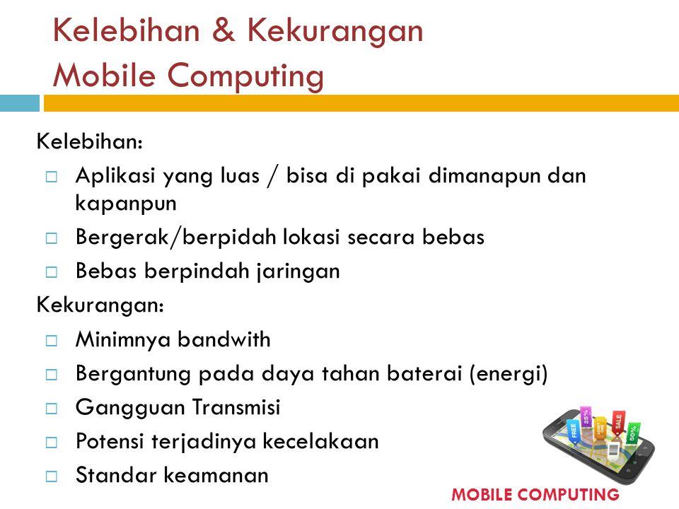 Kelebihan & Kekurangan Mobile Computing