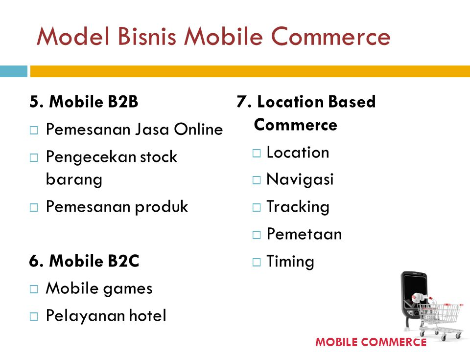 Model Bisnis Mobile Commerce
