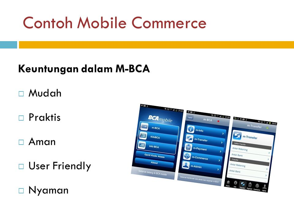 Contoh Mobile Commerce