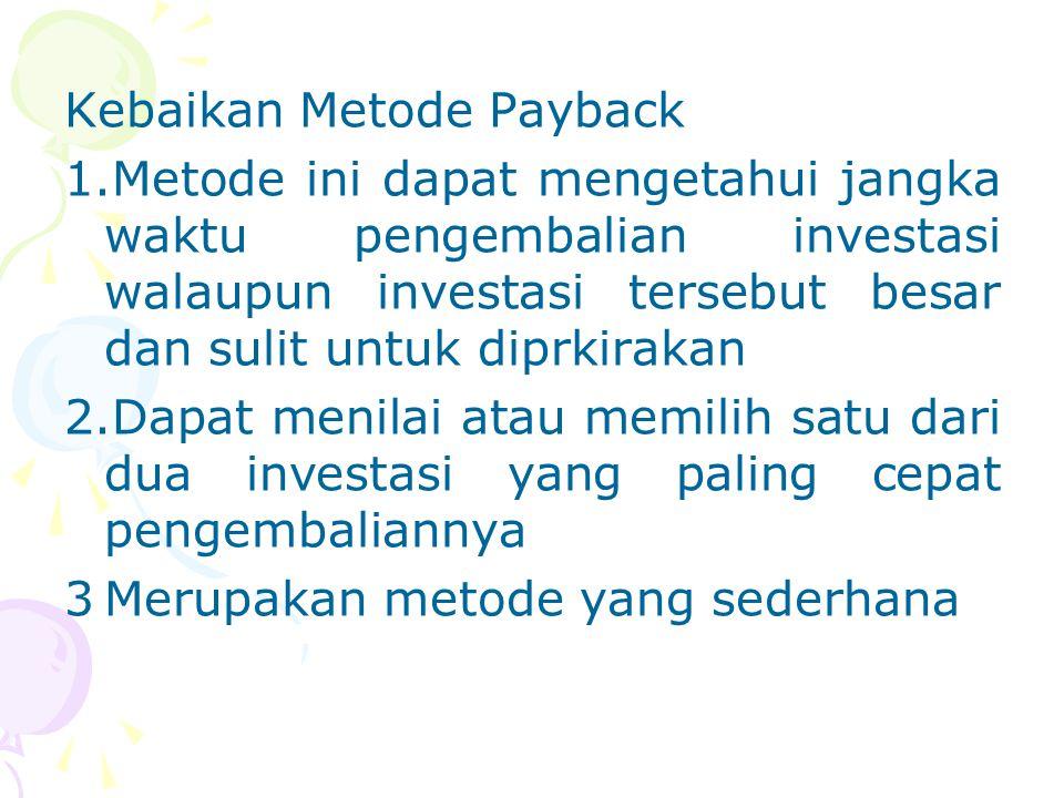 Kebaikan Metode Payback 1