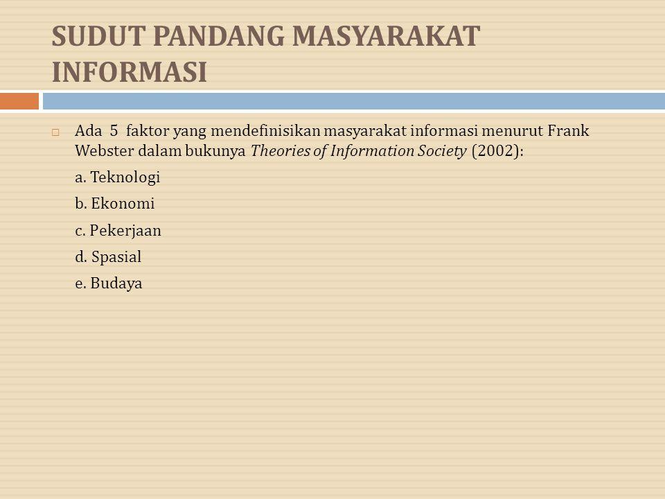 SUDUT PANDANG MASYARAKAT INFORMASI