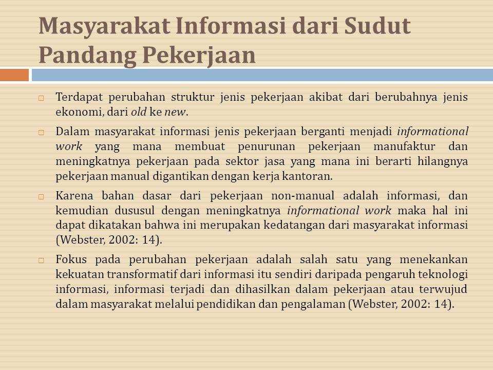 Masyarakat Informasi dari Sudut Pandang Pekerjaan