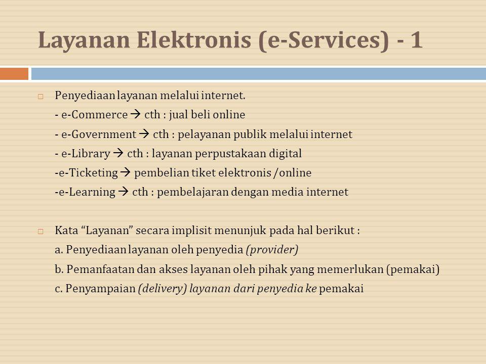 Layanan Elektronis (e-Services) - 1