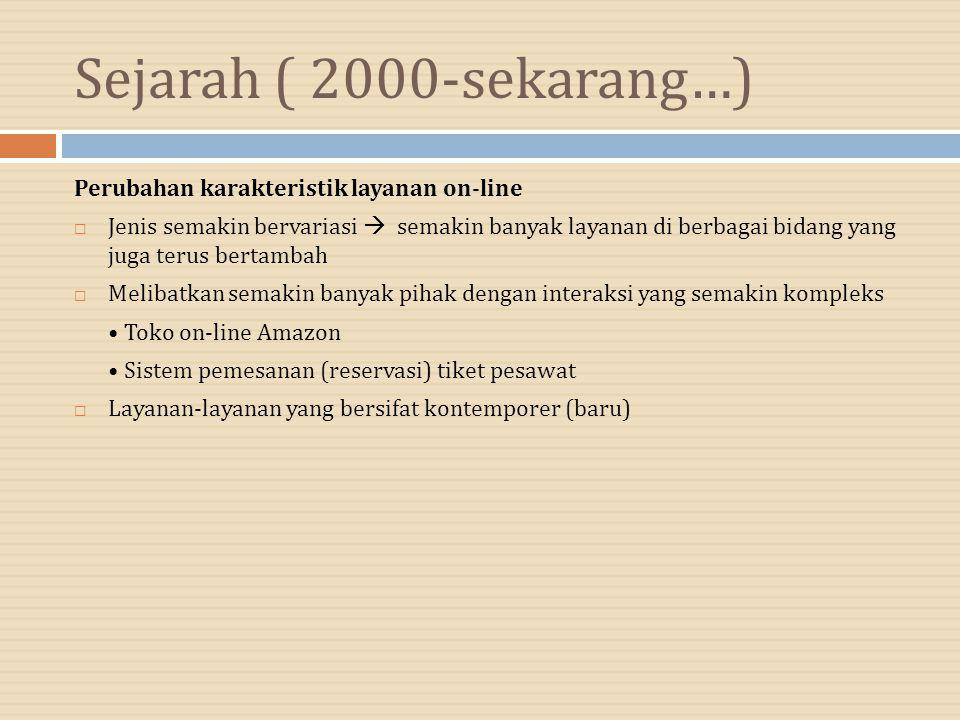 Sejarah ( 2000-sekarang…) Perubahan karakteristik layanan on-line
