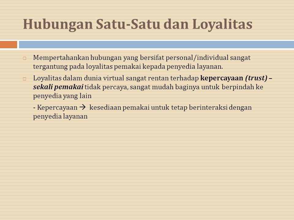 Hubungan Satu-Satu dan Loyalitas