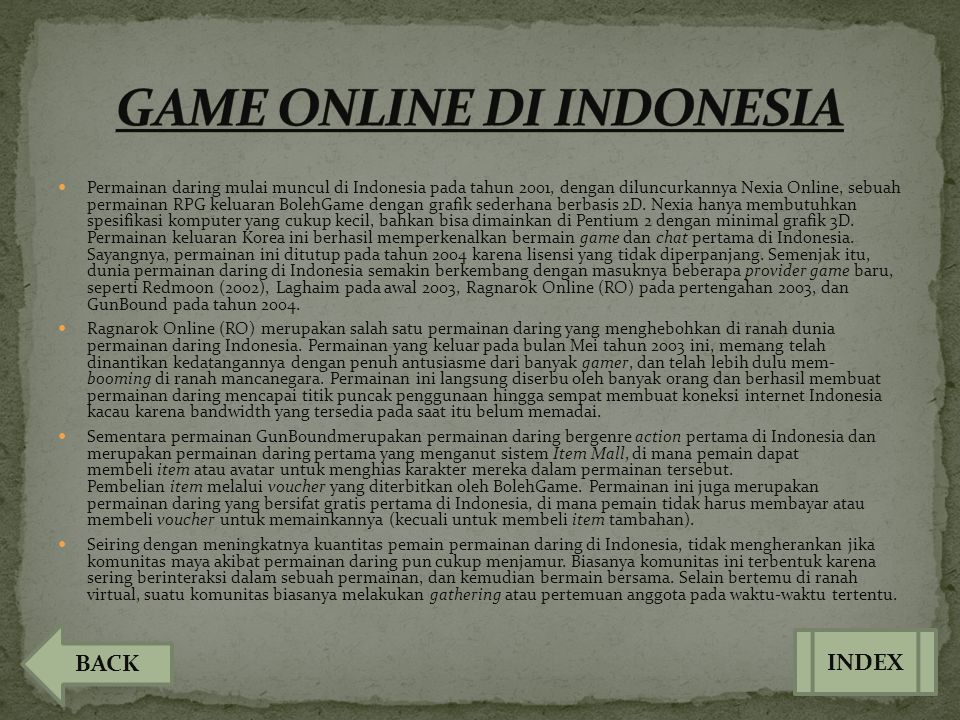GAME ONLINE DI INDONESIA