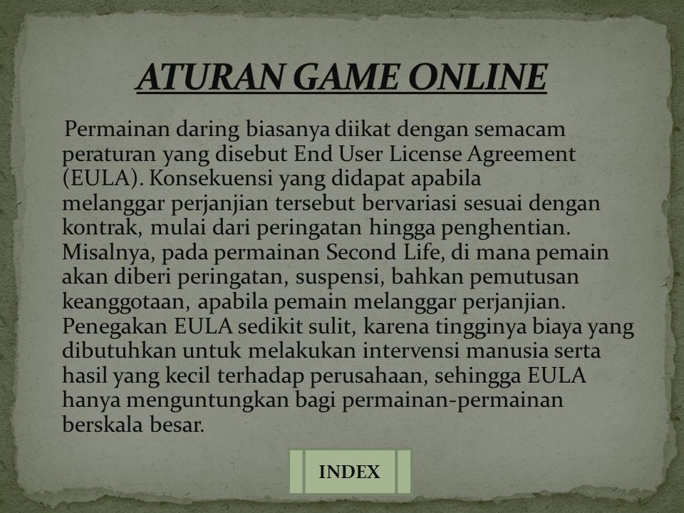 ATURAN GAME ONLINE