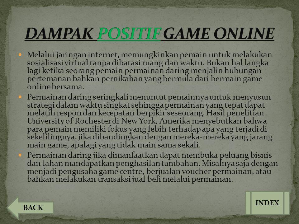 DAMPAK POSITIF GAME ONLINE