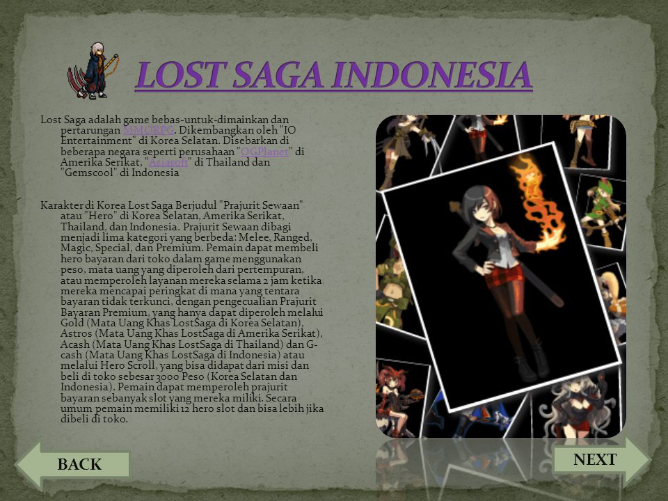 LOST SAGA INDONESIA NEXT BACK