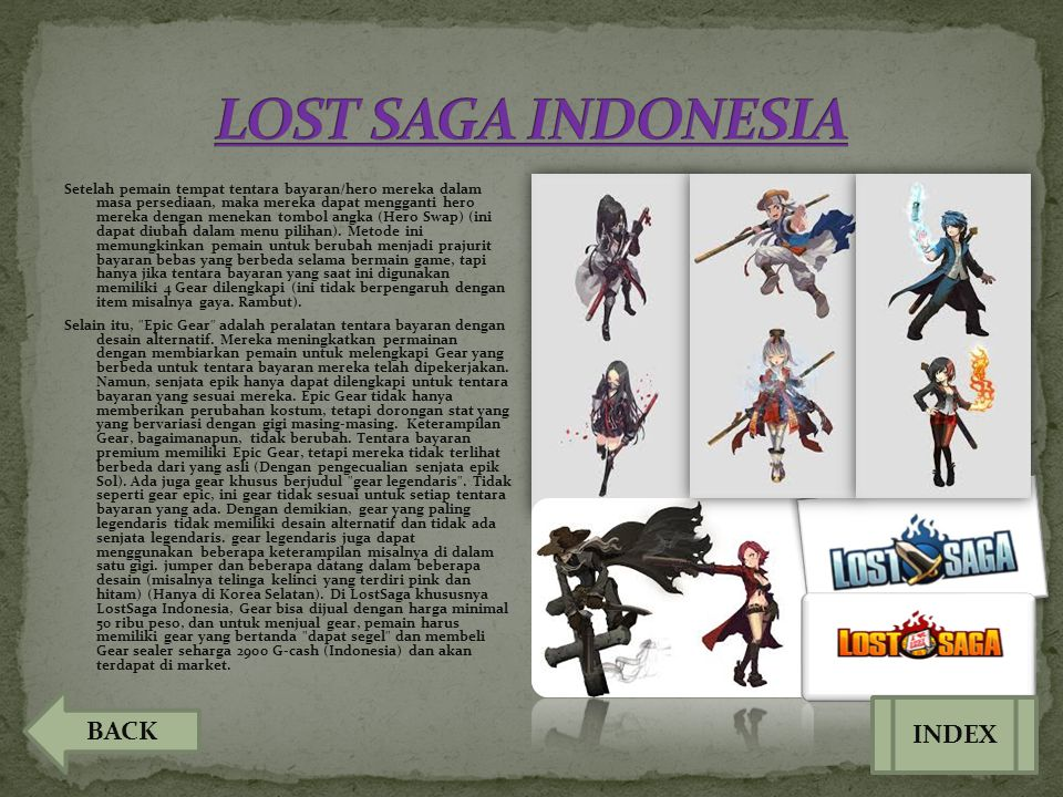 LOST SAGA INDONESIA BACK INDEX