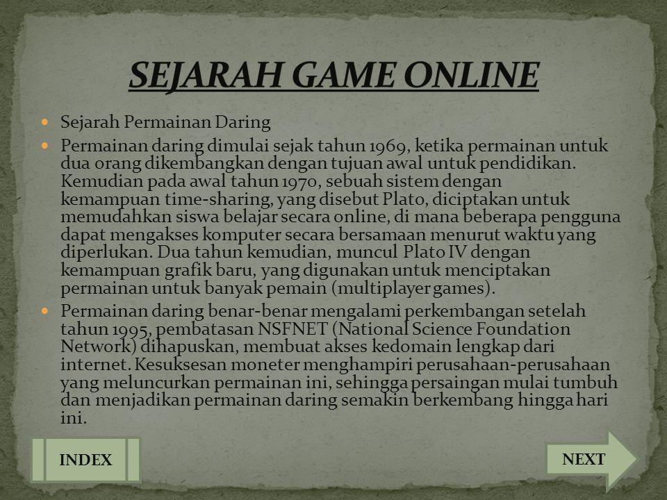 SEJARAH GAME ONLINE Sejarah Permainan Daring