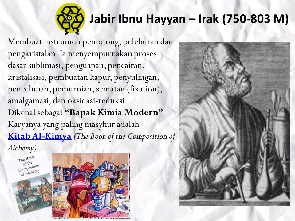 Jabir Ibnu Hayyan – Irak (750-803 M)