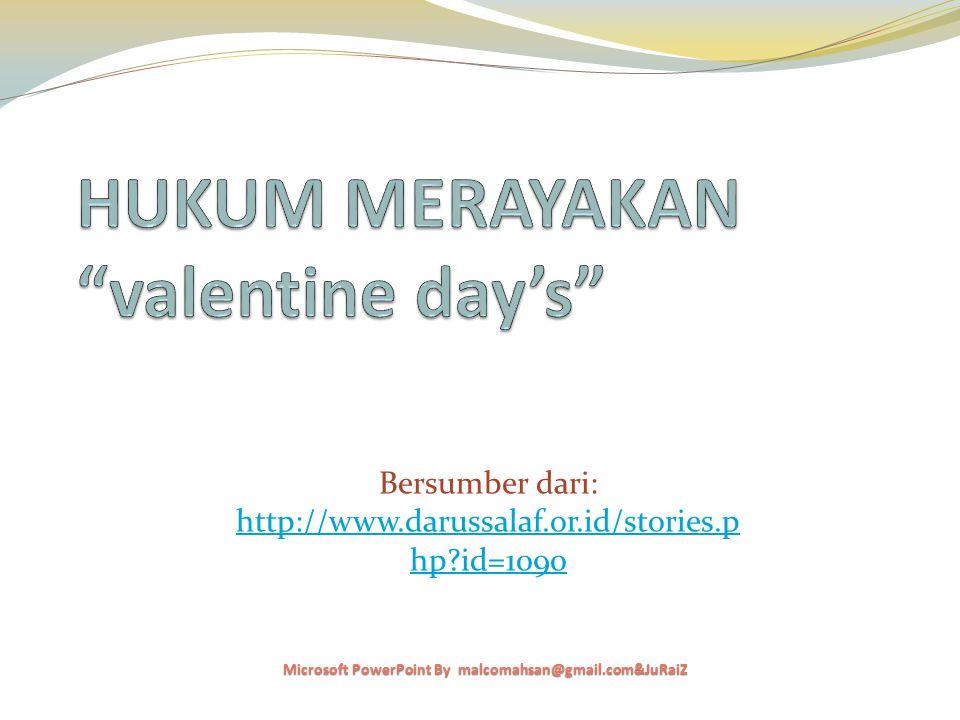 HUKUM MERAYAKAN valentine day's
