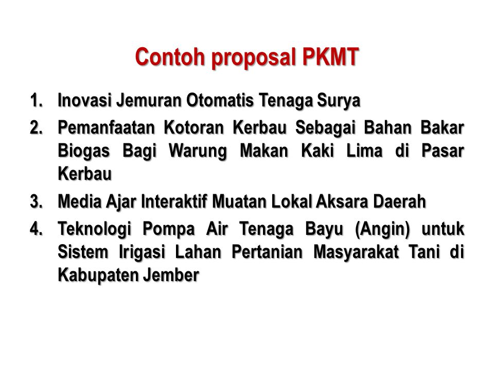 Contoh proposal PKMT Inovasi Jemuran Otomatis Tenaga Surya