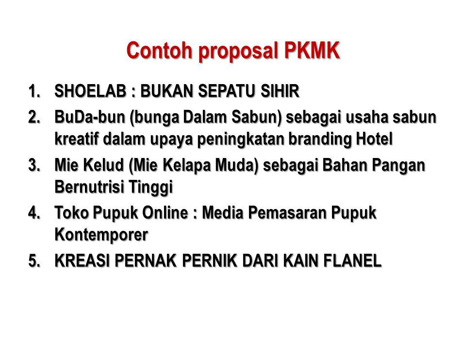 Contoh proposal PKMK SHOELAB : BUKAN SEPATU SIHIR