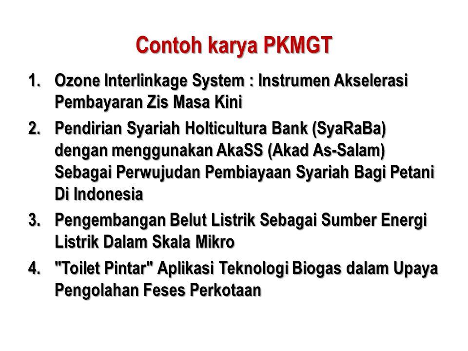 Contoh karya PKMGT Ozone Interlinkage System : Instrumen Akselerasi Pembayaran Zis Masa Kini.