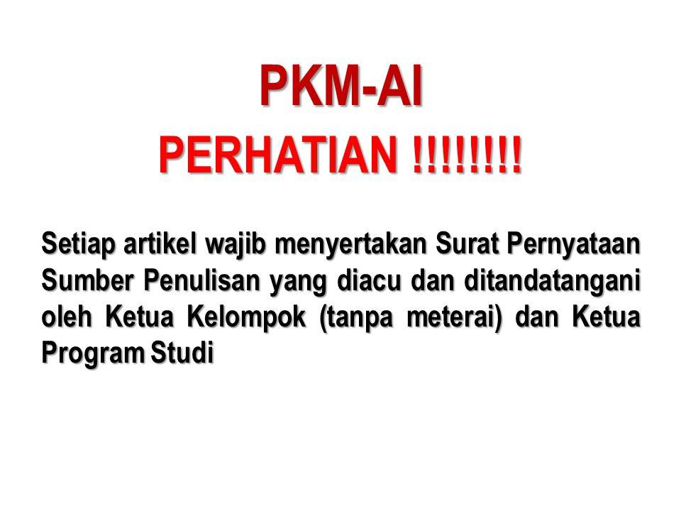 PKM-AI PERHATIAN !!!!!!!!