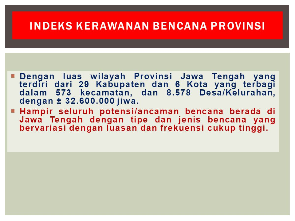 Indeks kerawanan bencana provinsi