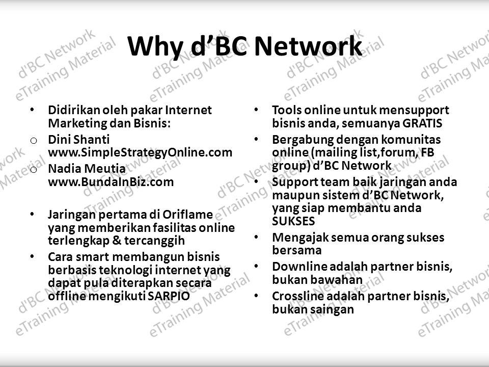 Why d'BC Network Didirikan oleh pakar Internet Marketing dan Bisnis: