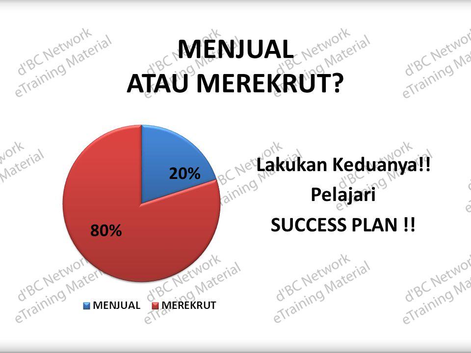 Lakukan Keduanya!! Pelajari SUCCESS PLAN !!