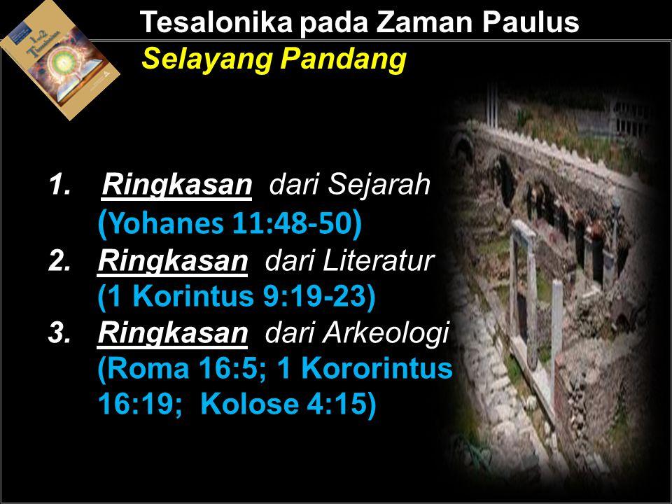 Tesalonika pada Zaman Paulus Selayang Pandang