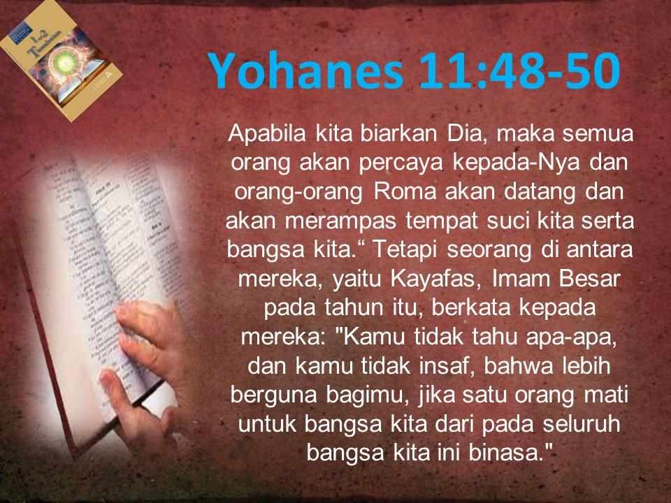 Yohanes 11:48-50