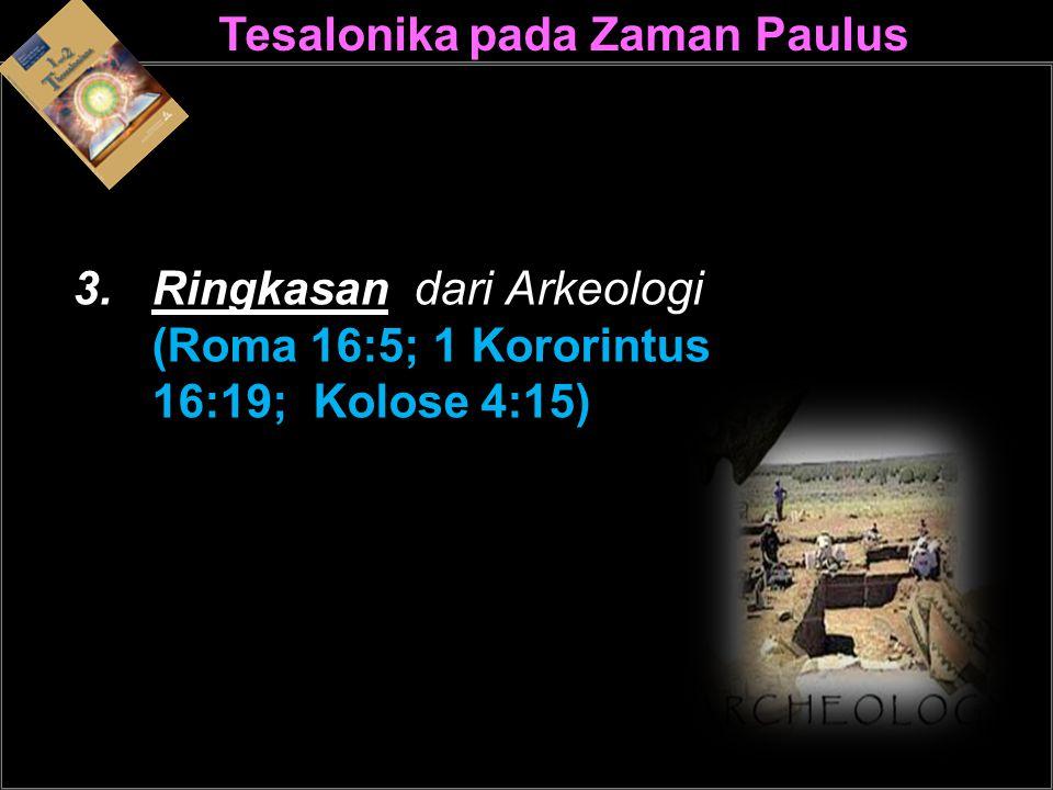 Tesalonika pada Zaman PaulusPaulus