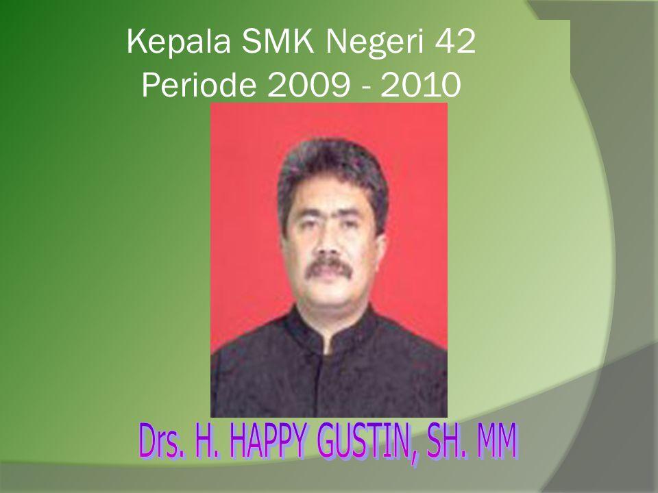 Kepala SMK Negeri 42 Periode 2009 - 2010