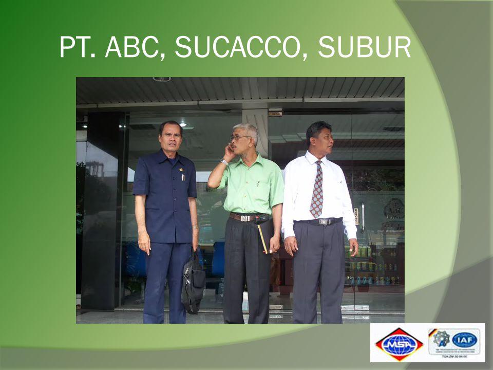 PT. ABC, SUCACCO, SUBUR