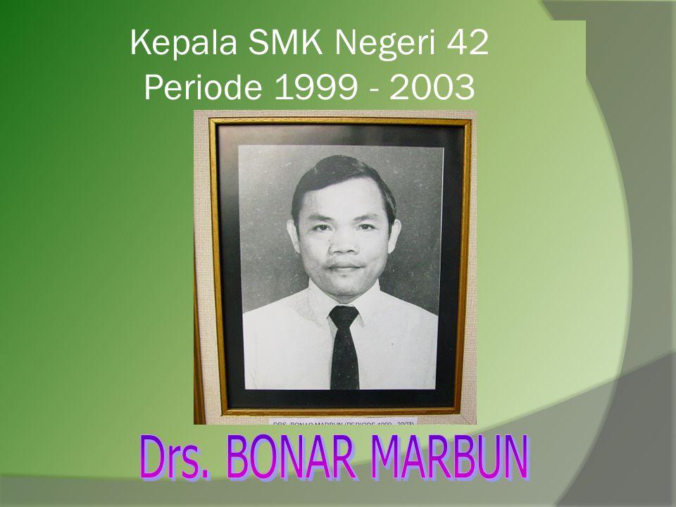 Kepala SMK Negeri 42 Periode 1999 - 2003