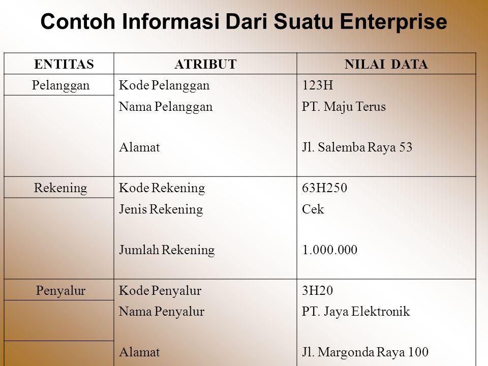 Contoh Informasi Dari Suatu Enterprise