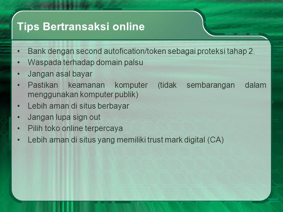 Tips Bertransaksi online