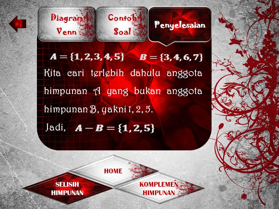 Selisih dan komplemen himpunan ppt download 10 diagram venn ccuart Choice Image