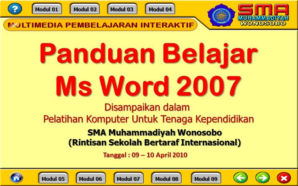 Panduan Belajar Ms Word 2007