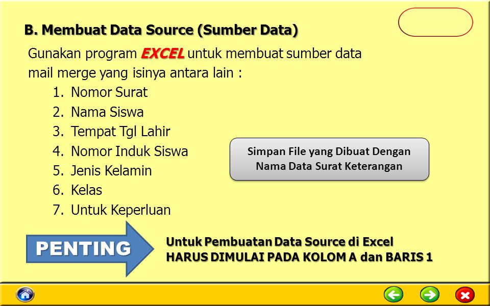 B. Membuat Data Source (Sumber Data)