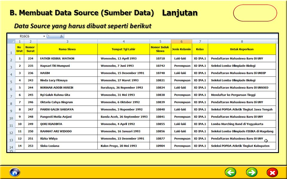 Lanjutan B. Membuat Data Source (Sumber Data)