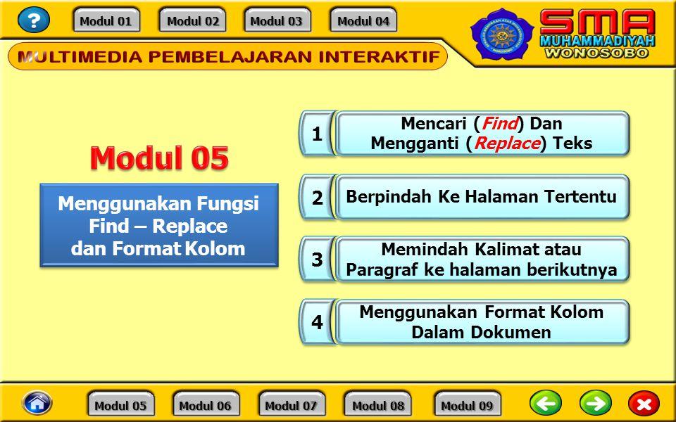 Modul 05 1 2 Menggunakan Fungsi Find – Replace dan Format Kolom 3 4