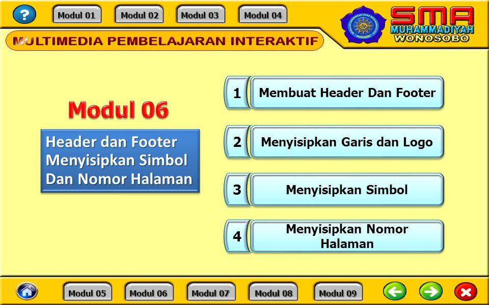 Modul 06 Header dan Footer Menyisipkan Simbol Dan Nomor Halaman 1 2 3