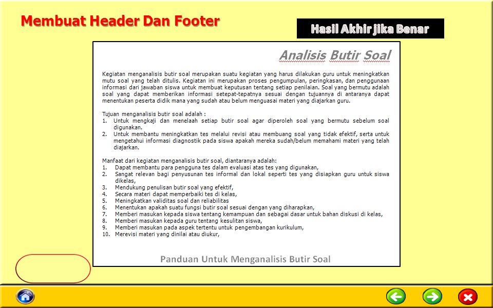 Membuat Header Dan Footer