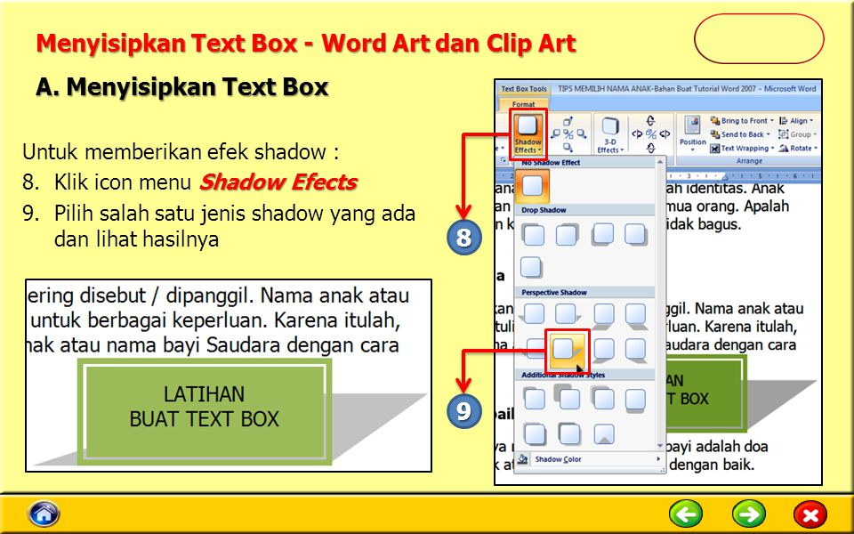 Menyisipkan Text Box - Word Art dan Clip Art