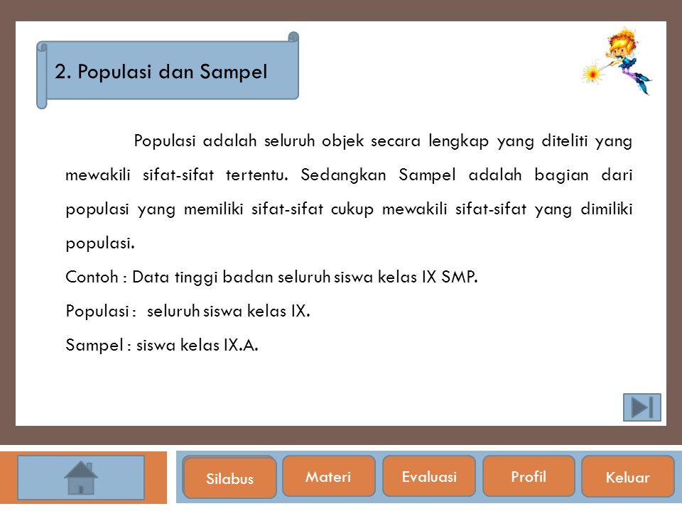 2. Populasi dan Sampel
