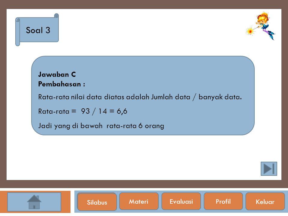 Soal 3 Jawaban C Pembahasan :
