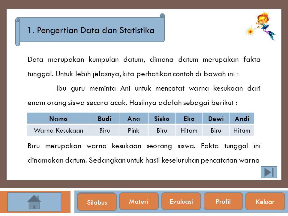 1. Pengertian Data dan Statistika