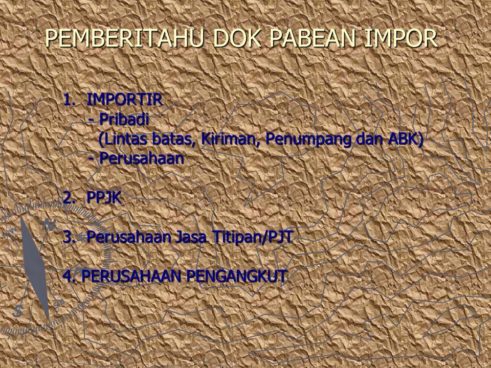 PEMBERITAHU DOK PABEAN IMPOR